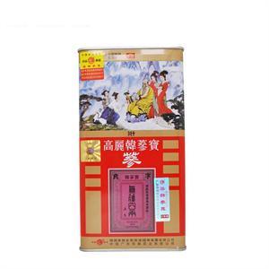 华韩 高丽韩参宝参(良字铁盒)   150g
