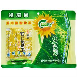 祺瑞园 桔红枇杷果浓缩液植物饮料  深圳祺瑞园  10克*6袋