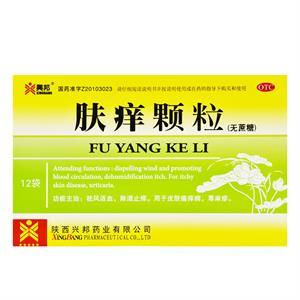 兴邦 肤痒颗粒(无糖型)  陕西兴邦  4.5g*12袋