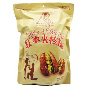 阿曼尼莎 红枣夹核桃 500g