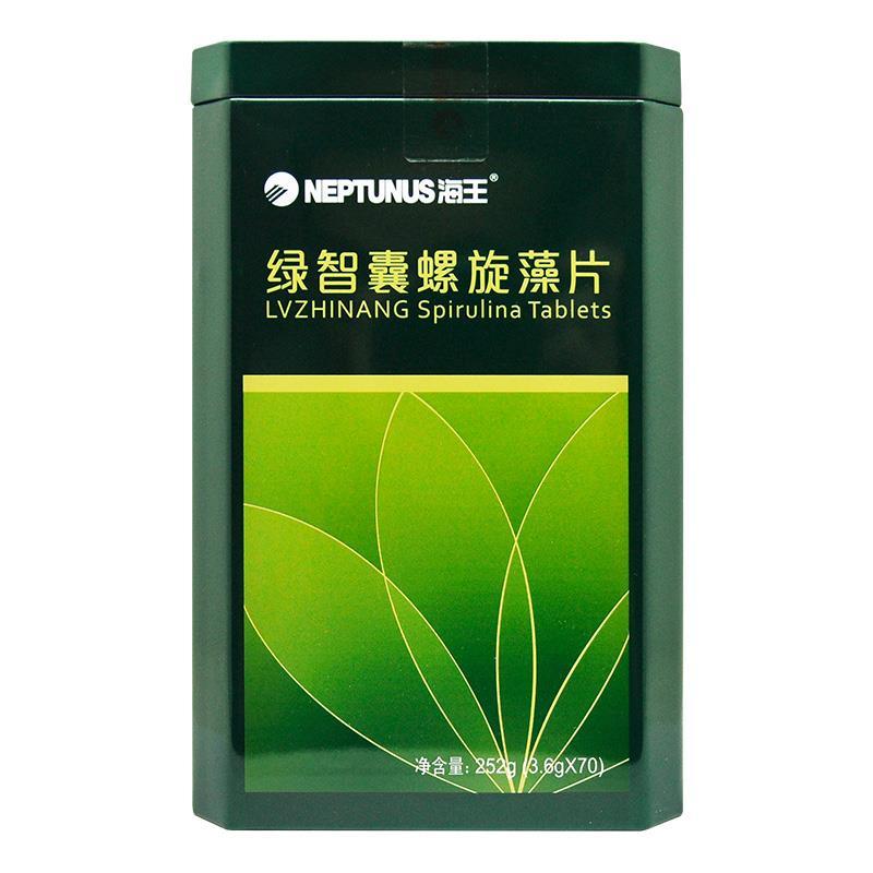 海王 绿智囊螺旋藻片  江苏海王  252g(3.6g*70袋)