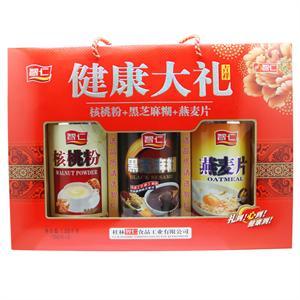 智仁 健康大礼(核桃粉+黑芝麻糊+燕麦片)  桂林智仁  350gx3瓶